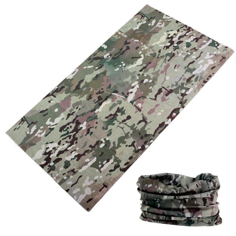 buffe Hot Sale Multifunctional Camouflage Scarf Bandama Outdoor Sports Mask Face Shield Camo Headwear Bandana Neck Gaiter Baff