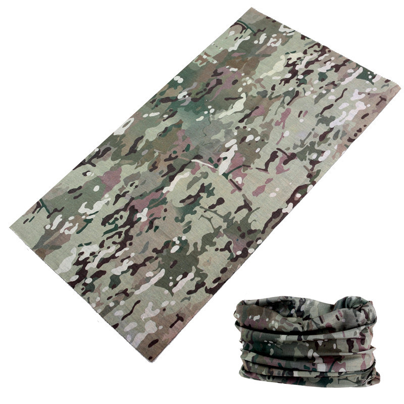 buffe Hot Sale Multifunctional Camouflage Scarf Bandama Outdoor Sports Mask Face Shield Camo   Headwear   Bandana Neck Gaiter Baff