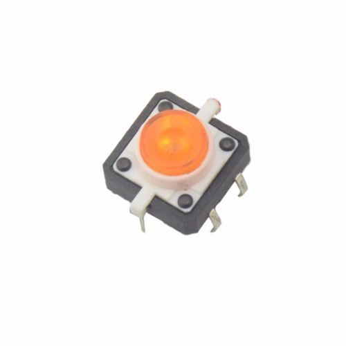 Electronic Components & Supplies Bright 5pcs Yellow Led Tactile Button Push Switch Momentary Tact With Led Round Cap