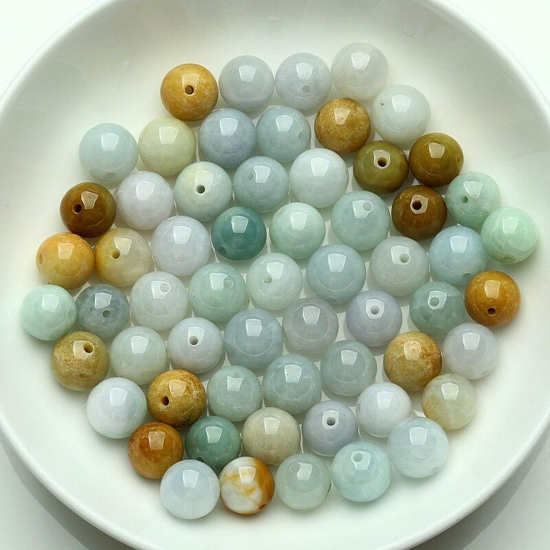 100PCS Natural a goods jade three color jade jade bead Bracelet Necklace Bead