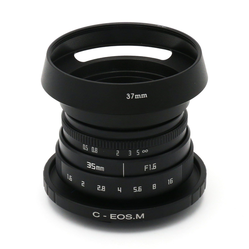 FUJIAN 35mm f/1.6 C Mount CCTV II f1.6 lens for Canon EOS M EF-M Mirrorless Camera