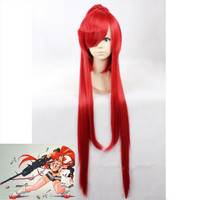 Anime Pandora Hearts yoko Cosplay Wig Women Girls Red Long Straight Hybrid Fiber Heat Resistance Hair Wig Cosplay Accessories