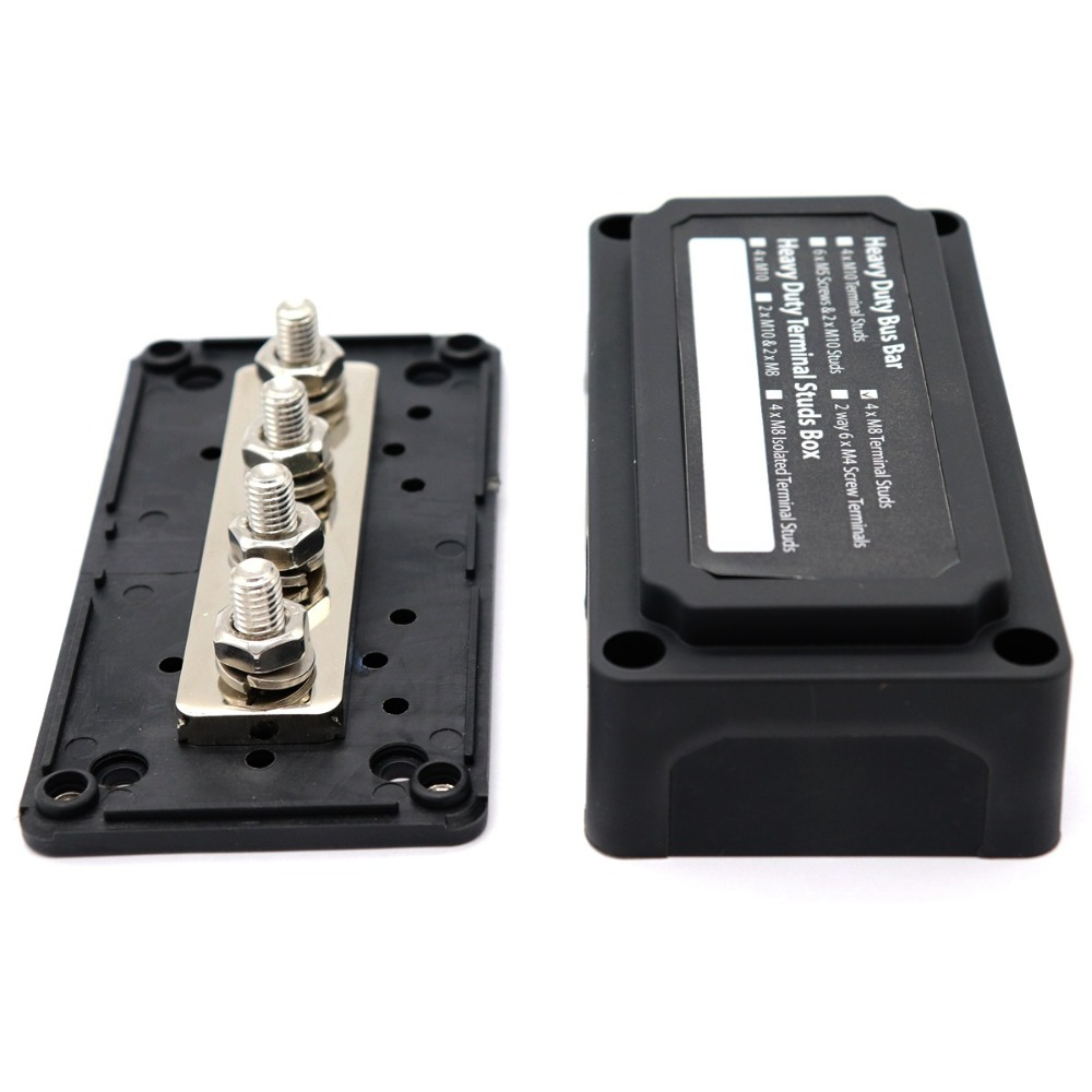 Image 2 - Heavy Duty Module Design Power Distribution Block Bus Bar Box with 4 Terminal Studs-in RV Parts & Accessories from Automobiles & Motorcycles