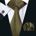 LS-1506 Barry. Wang Clássico Gravata dos homens 100% De Seda Amarelo Gravata Lenço Abotoaduras Set Para Casamento dos homens Da Novidade partido Negócio