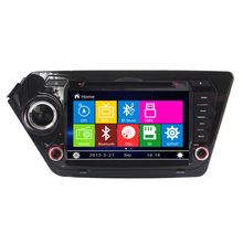Free Shipping Car DVD Player GPS Navigation System for Kia K2 Rio 2011 2012 with free map RDS Bluetooth Steeling wheel control