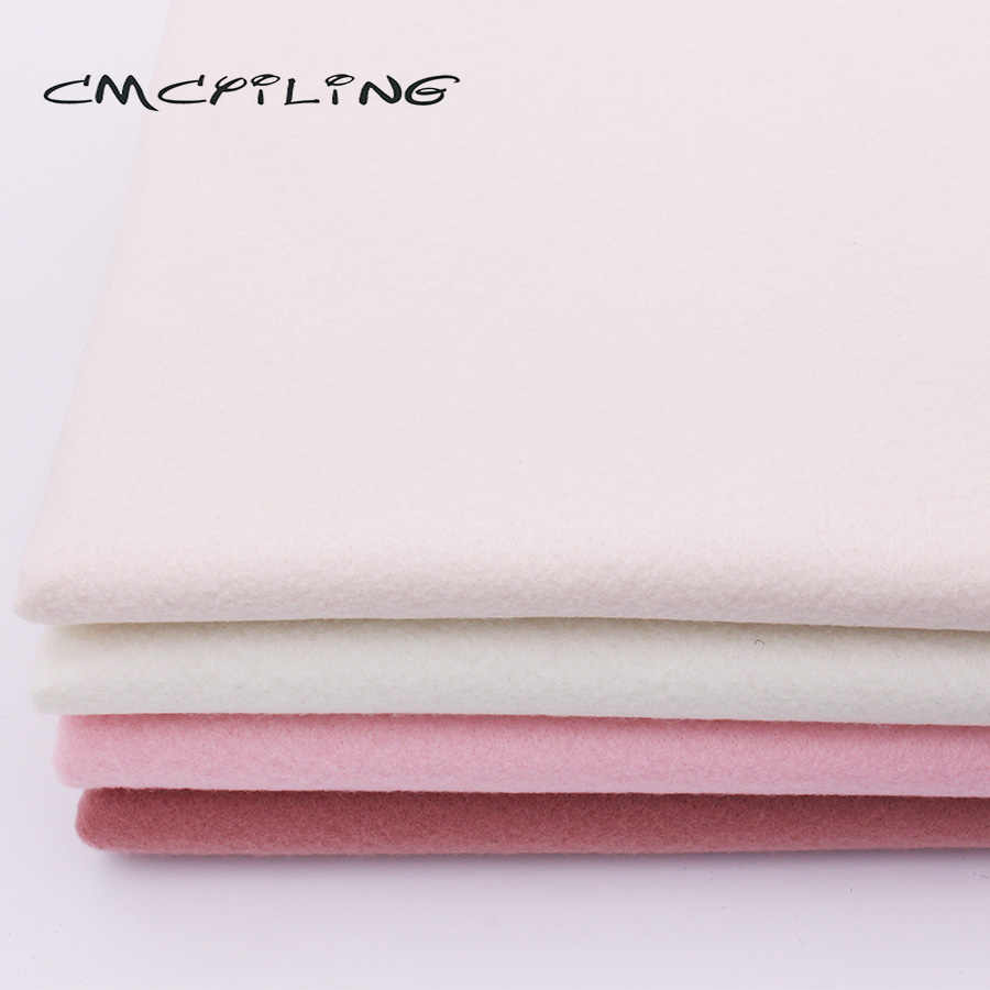 CMCYILING 1.2 MM Thickness Soft Felt Fabric For Needlework DIY Sewing Dolls Crafts Polyester Cloth 45*110CM
