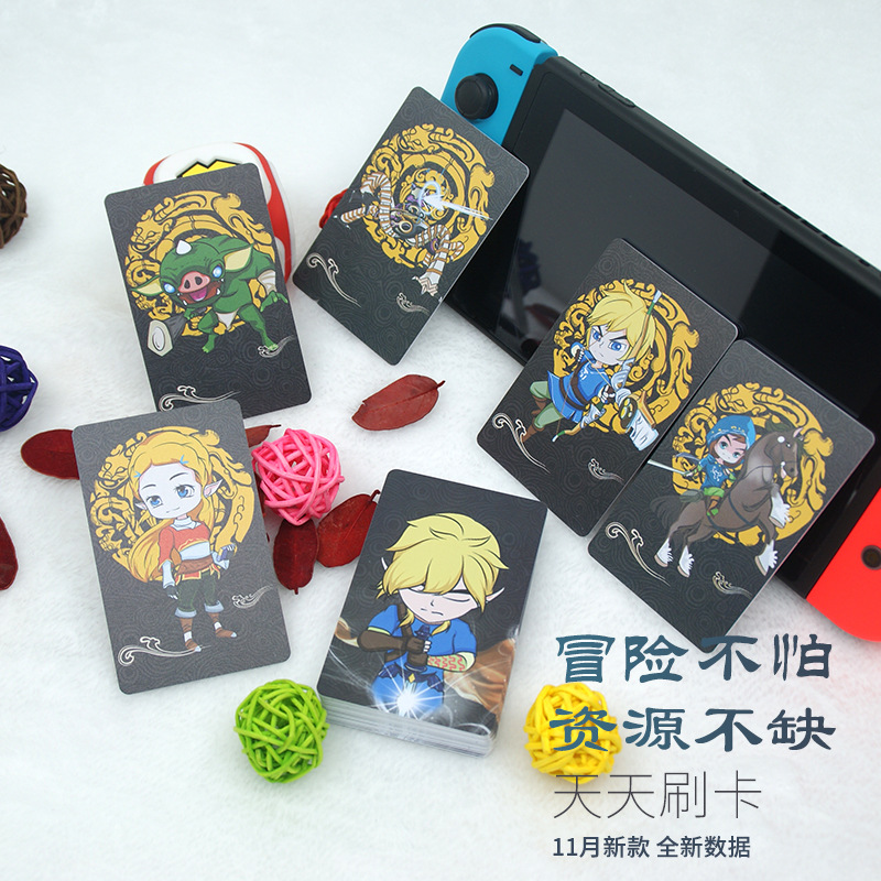 13.56Mhz Ntag215 Zelda NFC Card NS Game Switch TAG RFID Card Mini NFC Phone Card Ntag 215 Smart Chip Include 20 Heart Wolf Link