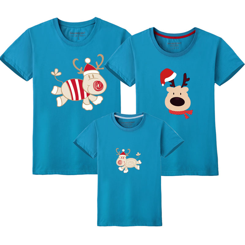 HTB1QbP0UQPoK1RjSZKbq6x1IXXan - Father Son Clothes Family Look Christmas Family Matching Outfits T Shirt Mother Daughter Short Sleeve Dad Mom Baby Family Suit