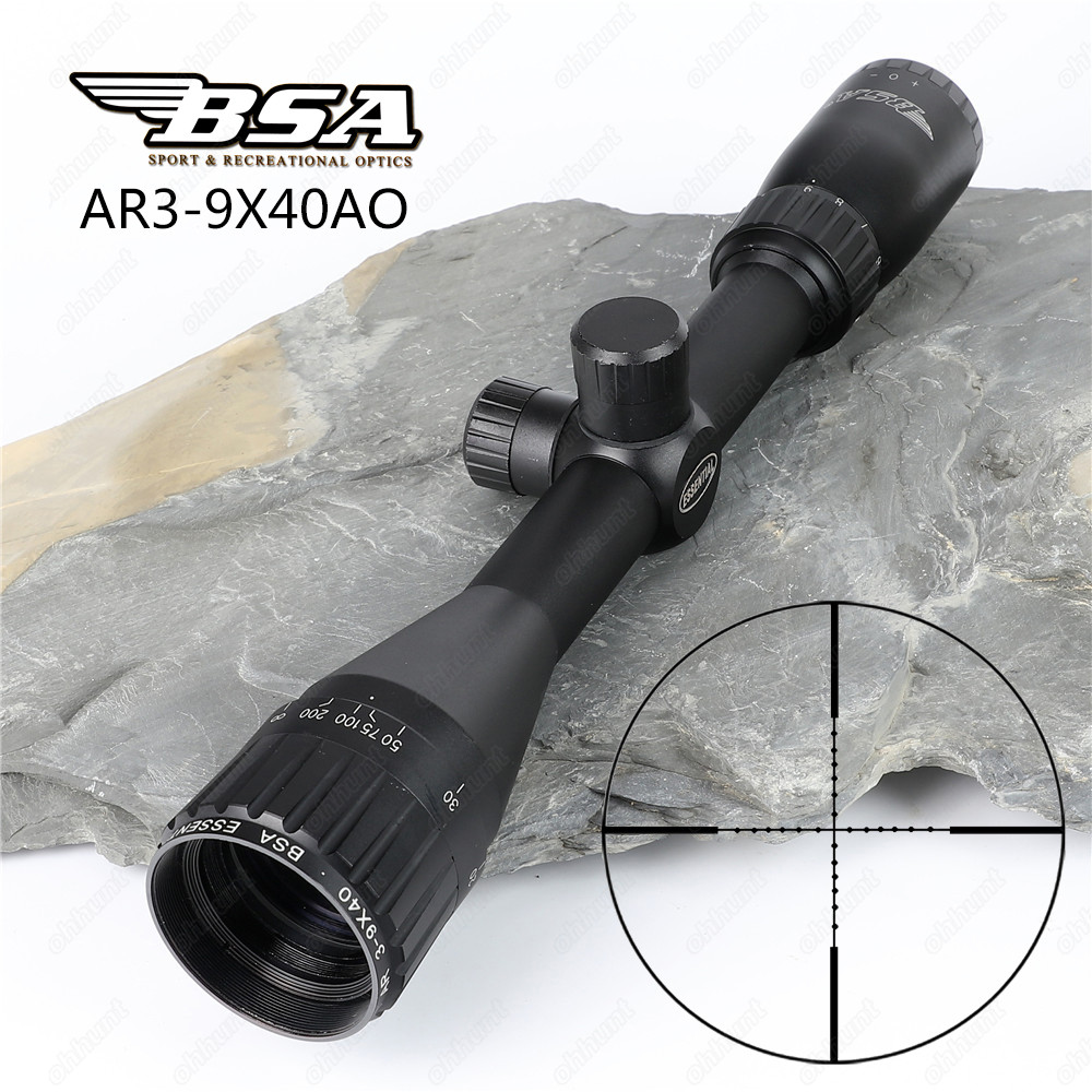 Hunting Optics Sights BSA Essential AR 3-9x40 AO Tactical Riflescope Mil Dot Reticle with 2 Kinds of Rings Shooting Rifle Scope ruuhee bikini swimwear women swimsuit bathing suit sexy brazilian push up beach 2017 bikini set maillot de bain femme biquini