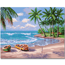 RIHE boat scenery-Abstract Painting By Numbers kit, Modern Wall Picture For Home Artwork,Diy Digital Paint 40x50cm