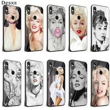 Desxz Audrey Hepburn Marilyn Monroe Case Glass For Xiaomi Re