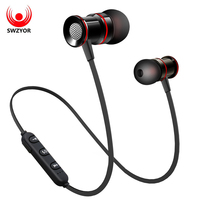 SWZYOR S02 Wireless Headphone Bluetooth V4 1 Earphone Metal Headset Bass Earbuds With Mic Hands Free