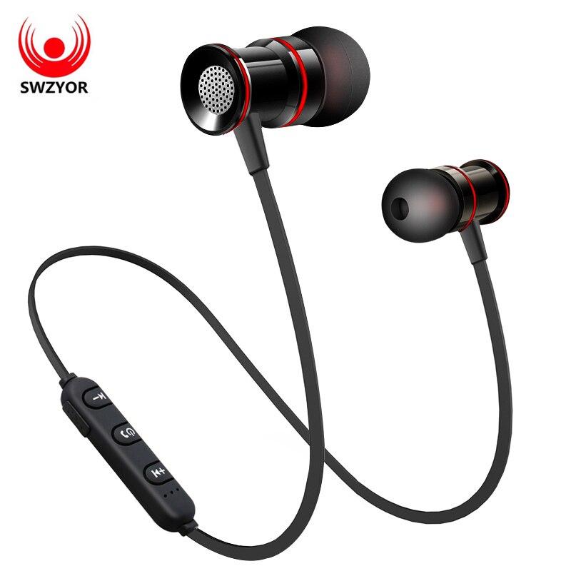 SWZYOR S02 Auriculares Inalámbricos Bluetooth V4.1 Auricular Auricular Del Metal Bass Auriculares Con Micrófono de Manos Libres Llamadas para Earpods Airpods