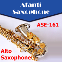 Afanti Music Eb tone / Brass body /  Nickel Plated Alto Saxophone (ASE-161)