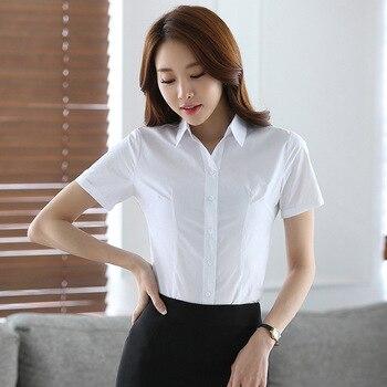 0d69e294e5badc2 TUHAO 2018 OL летняя элегантная женская блузка офисная для женщин короткий рукав  плюс размер 4XL 3XL рубашка с рюшами Повседневный Топ Блузка HN175