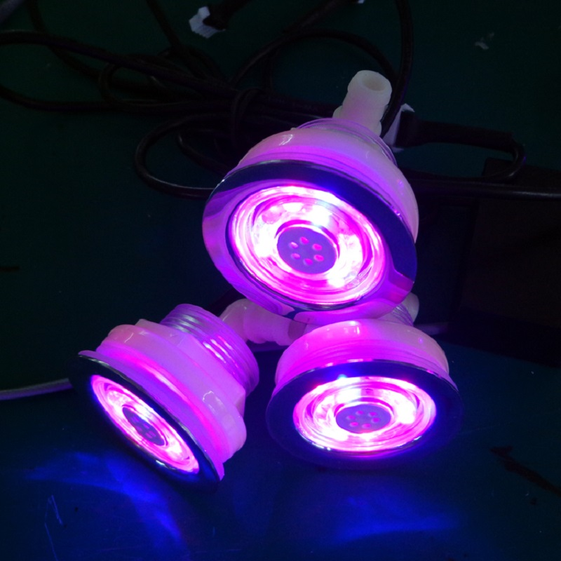 20pcs built in waterproof RGB LED underwater massage hot tub air jet led light without manual