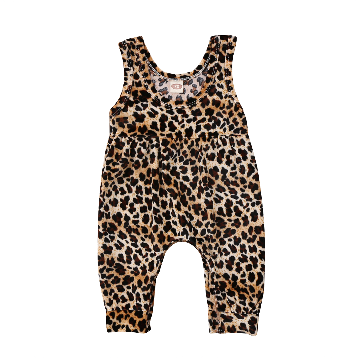 Print Sleeveless Toddler Girl Rompers Clothing Newborn Baby Girls Leopard Romper Jumpsuit Harem Pants Outfits Clothes Summer 2017 denim romper newborn baby boy girl summer sleeveless pocket clothes toddler kids jumpsuit sunsuit children clothing outfits
