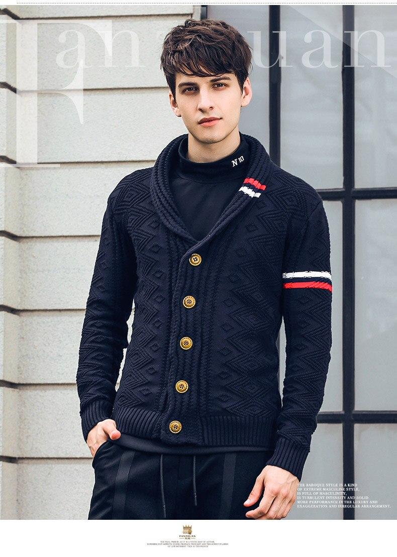 a2e97956f42 Fanzhuan Free Shipping New fashion 2018 spring men s male autumn winter  short cardigan personalized jacquard sweater 825198