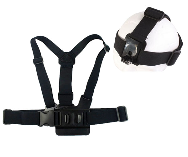 GoPro Chest Belt tripod mount Harness Elastic Adjustable Head Strap For GoPro Hero 3 2 1