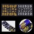 12 Unids/set Calcomanía Etiqueta Engomada Del Clavo Autoadhesivo PVC Impermeable Flor Decoración 3D Decoración de Uñas de Manicura Para Uñas de Gel polaco