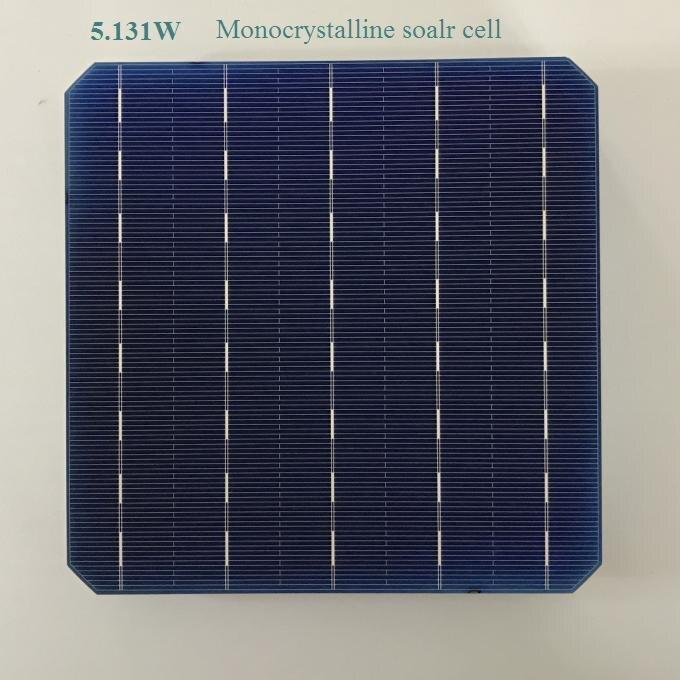 100pcs monocrystalline solar cell 5 131W 0 5V 21 high effciency Grade A Photovoltaic cell 6