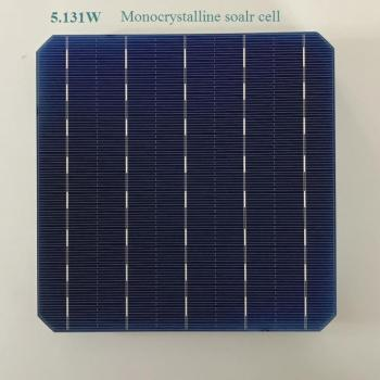 100pcs monocrystalline solar cell 5.131W 0.5V 21% high effciency Grade A Photovoltaic cell 6'x6' for mono silicon solar panel