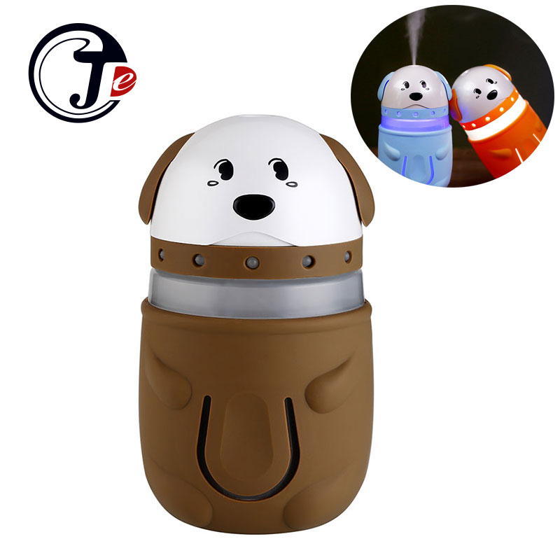 Mini Dog Air Humidifier Ultrasonic Humidificador USB Aroma Essential Oil Diffuser for Car Home Mist Maker Fogger with LED Lamp mini air humidifier essential oil diffuser with usb led light and mini fan mist maker fogger electric car aroma diffuser usb