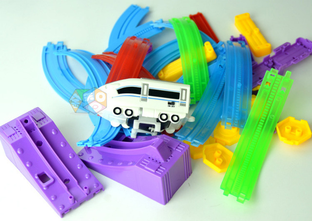 Hot Sell 3D festive gifts fast train Track Roller Coaster Toy Electric Rail Car for Educational Assembled Toys Child Gift