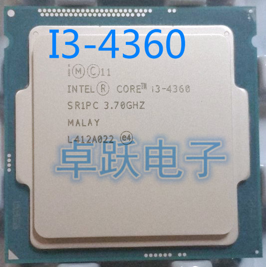 US $128 0  Intel Original I3 4360 I3 4360 CPU Processor 3 7GHz Dual Core  LGA 1150 22nm scrattered pieces free shipping-in CPUs from Computer &  Office