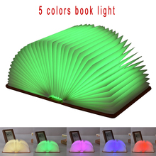 Book LED Light 5 Colors Magic Book Night Light USB Charging Folding LED Lamp Desk Table Wall Lamp Droplight Book Shape Light все цены