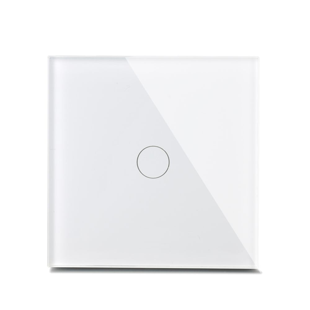 Smart Home 2017 New Arrival Luxury Crystal Glass Wall Switch Touch Switch 1 Gang 1 Way UK Standard Light Switch smart home uk standard crystal glass panel wireless remote control 1 gang 1 way wall touch switch screen light switch ac 220v