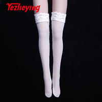 10Pcs 1/6 scale figures doll clothes Sexy Stockings Lace thigh highover knee Socks For 12 female Action figure Toys accessories