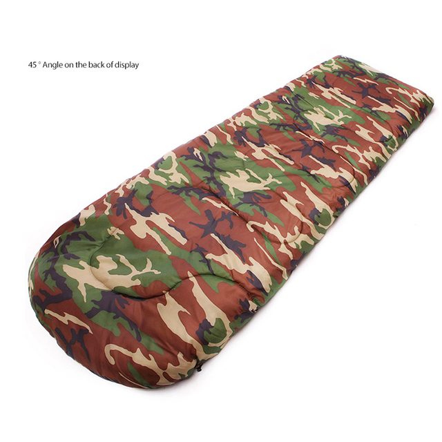Outdoor Hiking Lazy Bags Cotton Army Military Camouflage Sleeping Bag Camping Duck Down 20