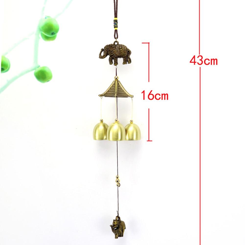 Campanas de Viento de Metal Antiguo Elefante Carill/ón de Viento Feng Shui Mascota China Campanas de Viento Decoraci/ón de Habitaciones de Jard/ín