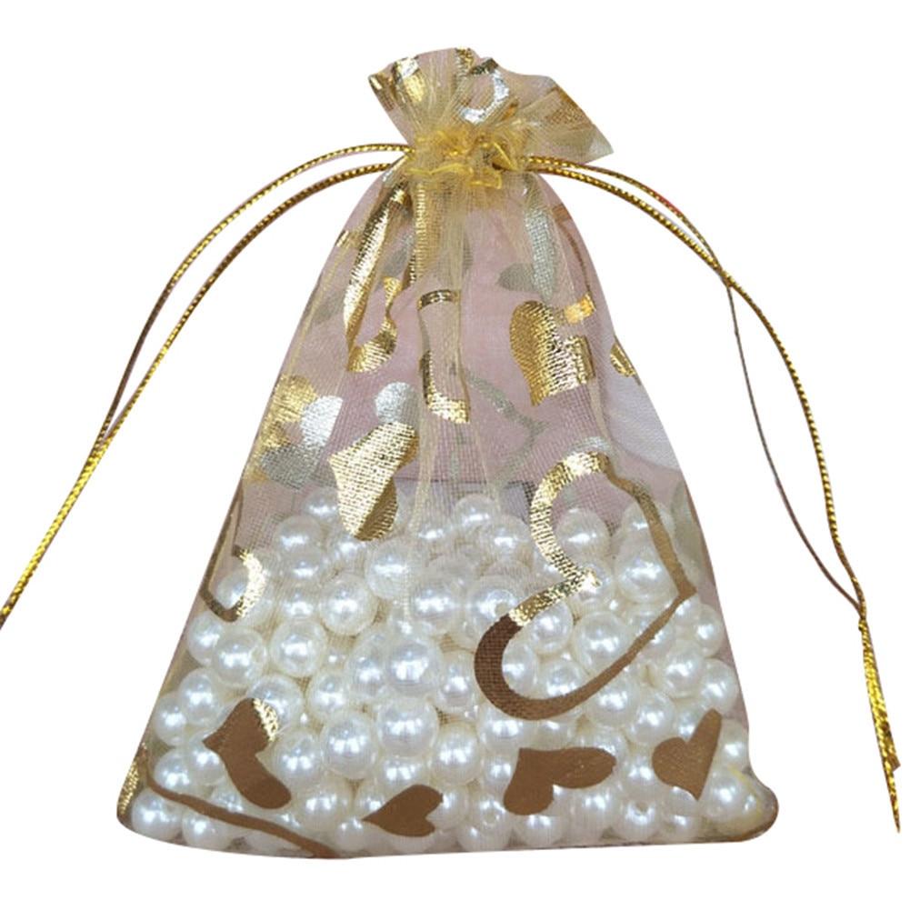 100pcs 9x12cm Organza Pouches Jewelry Candy Drawstring Bag Gift ...