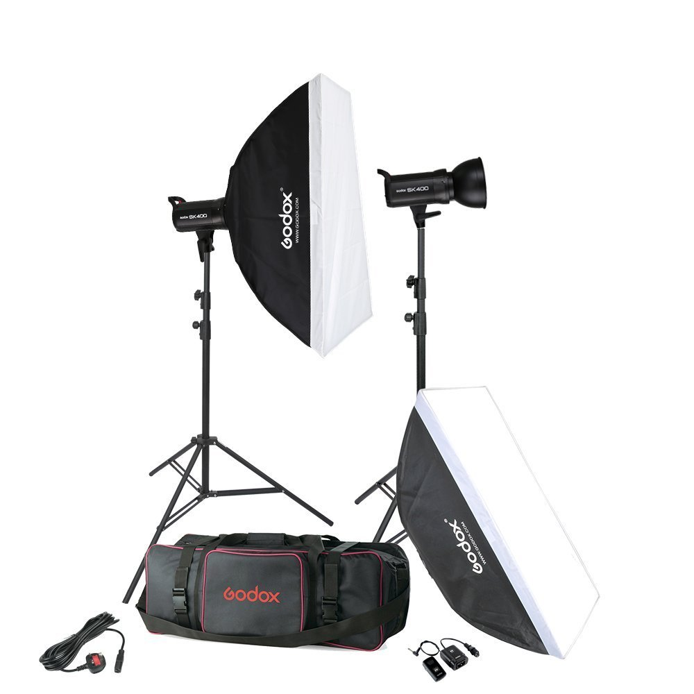 2* Godox SK400 800Ws Photo Studio Strobe Flash Softbox Light Stand Trigger Kit godox 35x160cm photo strobe studio flash softbox for bowens mount godox de qt dp de sk sp gs studio flash
