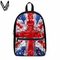 VEEVANV 2019 Hot Sale Country Flags Canvas Backpacks US UK CA DE Flag Canvas Backpacks For Teenagers School Laptop Backpack