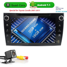 4 г Wi-Fi Авторадио Android 7.1 2din dvd-плеер автомобиля для Toyota Corolla 2007-2011 hdtouch screen2g ram16grom GPS навигации USB ТВ