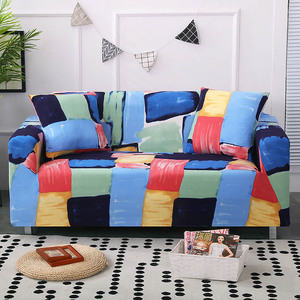 Image 5 - 24colors Slipcover Stretch Four Season Sofa Covers Furniture Protector Polyester Loveseat Couch Cover Sofa Towel 1/2/3/4 seater