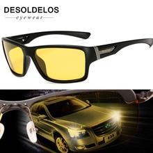 Night Vision Sunglasses for Men UV400 Protection Night Driving Glasses Male Polarized Yellow Lens Sun Glasses 2019 New
