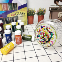 12colors set special Glass Painting Pigment children DIY hand painting glass cup plate vase Colored Non toxic