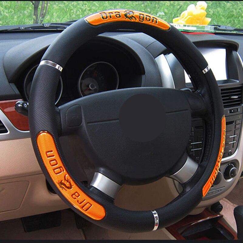 Universal Steering wheel cover Leather Steering wheel cover 36,5-38 cm Prestig