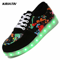KRIATIV Colorful Luminous Led Shoes infant Usb Charging sneakers led Slippers do with light up shoes LUMINOUS Sneakers