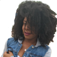 Afro Kinky Curly Human Hair Wig 360 Lace Frontal Wig 130% Density Lace Front Human Hair Wigs Pre Plucked Remy Sunny Queen Hair