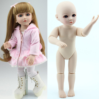 18 45cm hard body BJD SD brown hair blue or brown eyes baby doll lifelike ball joint doll for baby girls