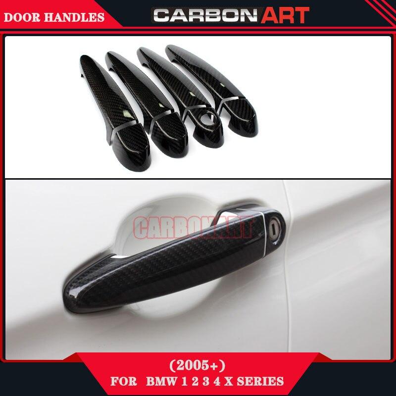 Carbon Fiber Exterior Door Knob Handles Holder For Bmw 1 2 3 4 X Series E81  E87 E82 E88 F20 F21 F22 E90 E91 E92 E93 F30 In Exterior Door Handles From  ...