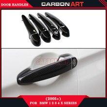 Carbon Fiber Exterior Door Knob Handles Holder for Bmw 1 2 3 4 X Series E81