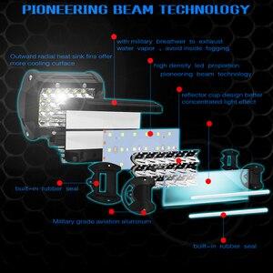 Image 5 - CROSSFOX Car 36W 60W reflektor roboczy 72W 120W LED 240W 300W Auto robocza listwa oświetleniowa na motocykl terenowy 4x4 poziomy ciągnik światło do łodzi