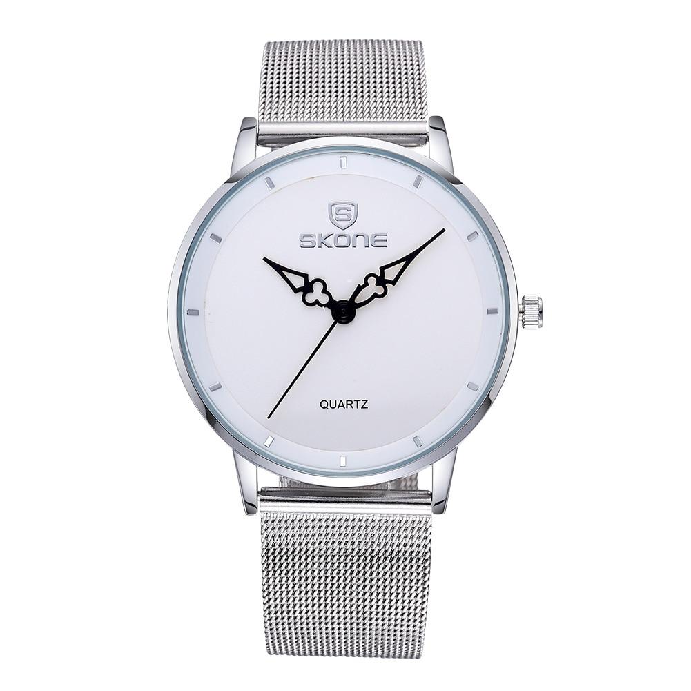 ФОТО High Quality SKONE Brand Watch Ultrathin Dial Silver Mesh Band Women Quartz Watch Fashion Dress Watches Relojes Mujer Montre