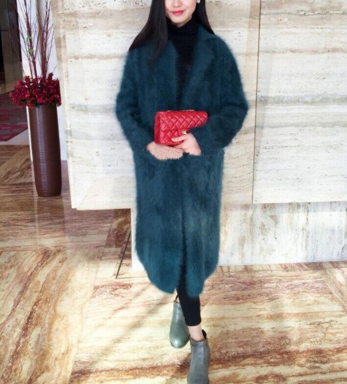 Abrigo largo de cachemir de visón auténtico suéter de cachemir de visón genuino tamaño grande personalizado abrigo puro verdadero de piel de visón X cárdigan largo FP902-in Caquetas de punto from Ropa de mujer    2